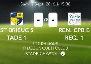 2016-09-03 U17 DH St Brieuc vs Breq