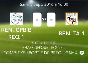 2016-09-03 U19 DH Breq vs TA